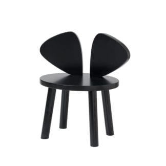 MOUSE CHAIR BLACK barnstol, Nofred