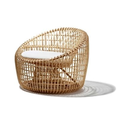 Nest LOUNGE CHAIR rotting natur, Cane-line