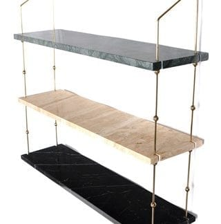 Morse shelve hylla Green/sand/black/brass