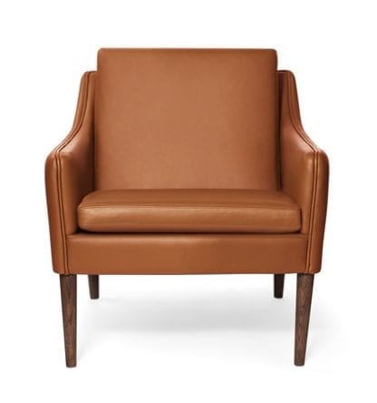 Mr. Olsen Lounge Chair Cognac Läder Smoked Ek