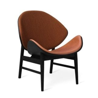 The Orange Lounge Chair Spicy Brown/cognac Svartlackad Ek